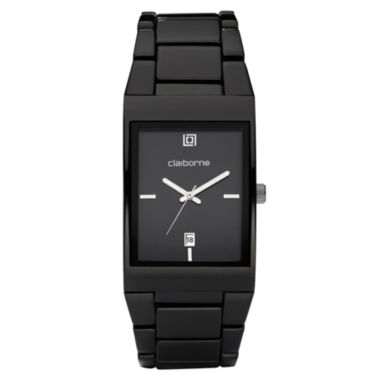 jcpenney.com | Claiborne Mens Black Ionic Plating Watch