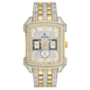 Bulova® Mens Two-Tone Crystal-Accent Watch 98C109