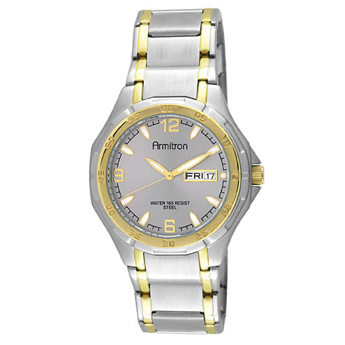 Armitron® Mens Two-Tone Stainless Steel Watch