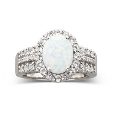 jcpenney.com | Lab Created Opal & White Sapphire Ring