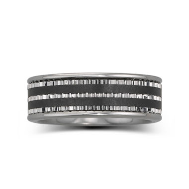 jcpenney.com |  Men's 7.5mm Stainless Steel & Ceramic Band