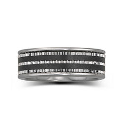 BEST VALUE! Men's 7.5mm Stainless Steel & Ceramic Band