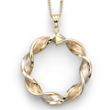 jcpenney.com | 10K Gold Tri-Color Pendant Necklace