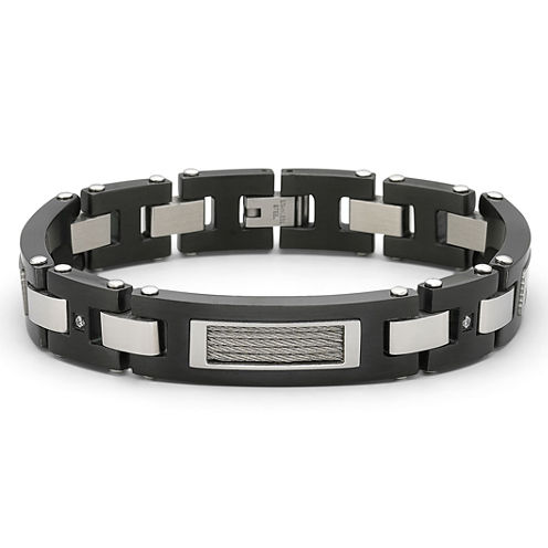 Men's Diamond-Accent Bracelet Stainless
