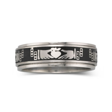 jcpenney.com | Men's Stainless Steel Claddagh Ring