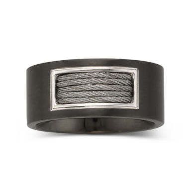 jcpenney.com | Men's 10mm Cable Band Stainless Steel