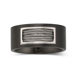 Men's 10mm Cable Band Stainless Steel