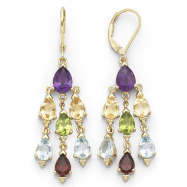 jcpenney.com | Genuine Multi-Gemstone Chandelier Earrings
