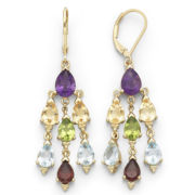 Genuine Multi-Gemstone Chandelier Earrings