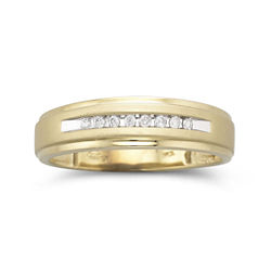 Mens 1/10 CT. T.W. Diamond Wedding Band 10K