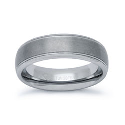 BEST VALUE! Mens 6mm Tungsten Comfort-Fit Ring