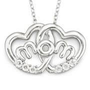 Mom Pendant, Double Heart