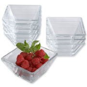 Libbey® Set of 8 Tempo Square Salad Bowls