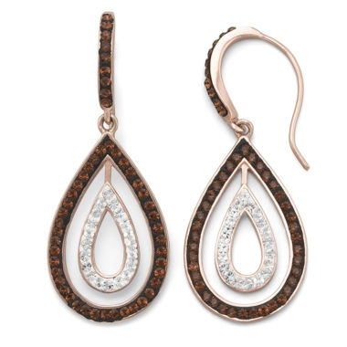 jcpenney.com | Rose 'N Chocolate Crystal Teardrop Earrings