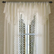 Isa Rod-Pocket Sheer Duet Valance