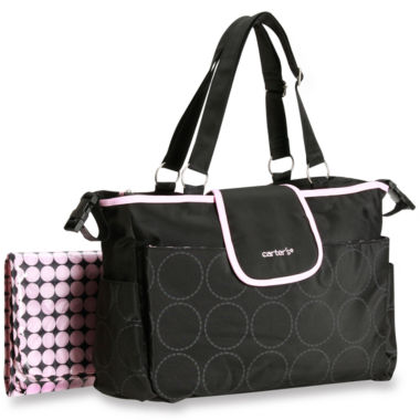 jcpenney.com | Carter's® Black with Pink Trim Diaper Bag