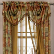 Royal Velvet® Excerpt Rod-Pocket Sheer Trumpet Valance