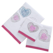Hearts Decorative Bath Towels