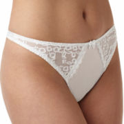 Va Bien Satin and Lace Thong Panties - 76134