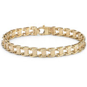 10K Gold 7.8mm Railroad Bracelet