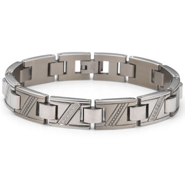 jcpenney.com | Men's Diamond Bracelet 1/10 CT. T.W. Stainless