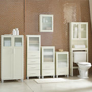 Frosted pane bath furniture collection for Bathroom cabinets jcpenney