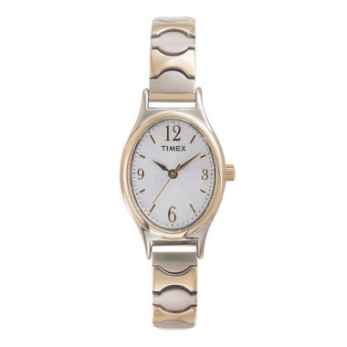 jcpenney.com | Timex® Womens Oval Expansion Strap Watch T26301