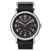 Timex® Weekender Black Fabric Strap Watch T2N647