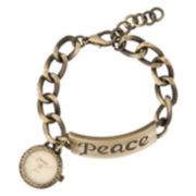 Decree® Peace Charm Bracelet Watch