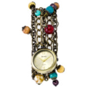 Decree® Multi-Strand Bead Charm Watch