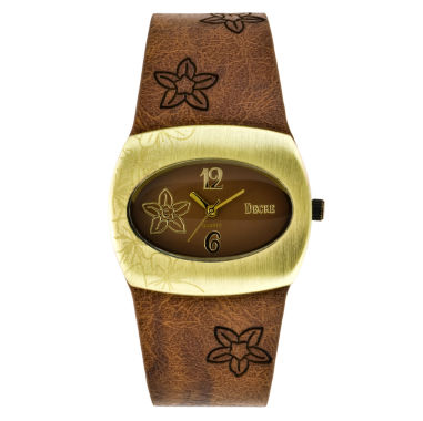 jcpenney.com | Decree® Flower Print Resin Strap Watch