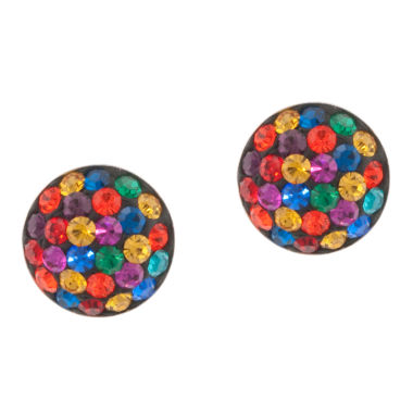 jcpenney.com | Silver Treasures Crystal Stud Earrings