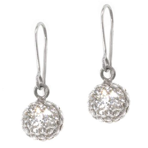Silver Treasures Crystal Drop Earrings