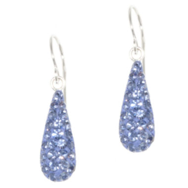 jcpenney.com | Silver Treasures Crystal Drop Earrings