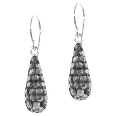 jcpenney.com | Sterling Silver Grey Crystal Drop Earrings