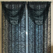 Kenya Zebra Tab-Top Sheer Waterfall Valance