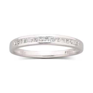jcpenney.com | 1/4 CT. T.W. Princess-Cut Diamond Band 10K White Gold