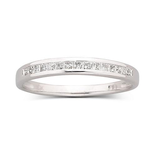 1/4 CT. T.W. Princess-Cut Diamond 10K White GoldBand