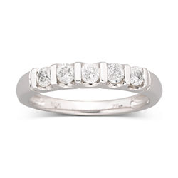 1/4 CT. T.W. Diamond Band 10K White Gold