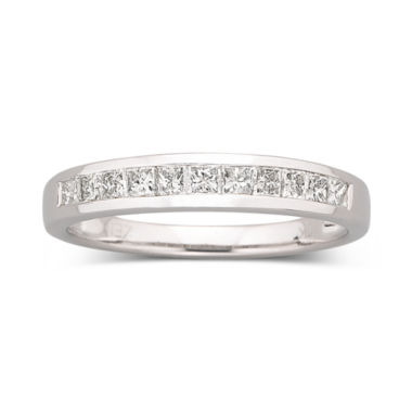 jcpenney.com | 1/2 CT. T.W. Princess Diamond Band 10K White Gold