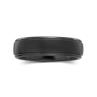jcpenney.com |  Men's 6mm Black Tungsten Carbide Ring