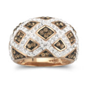 Rose 'N Chocolate Crystal Checkerboard Ring