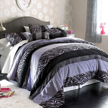 jcpenney.com | Seventeen® Zebra Darling Comforter Set and Accessories