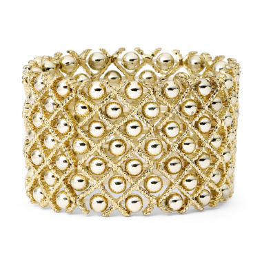 jcpenney.com | Bold Elements™ Gold-Tone Ball Stretch Bracelet