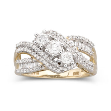 jcpenney.com | Love Lives Forever™ 3/4 CT. T.W. Diamond 10K Gold 3-Stone Ring