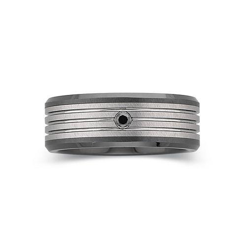 Men's Diamond-Accent Band Tungsten