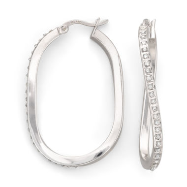 jcpenney.com | Diamond Fascination™ Wave Hoop Earrings