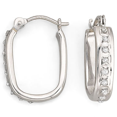 "jcpenney.com | Diamond Fascination™ ""U"" Hoop Earrings"