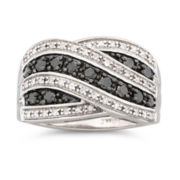 1/2 CT. T.W. Color-Enhanced Black Diamond Ring