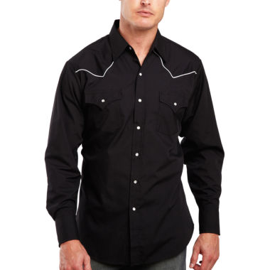 jcpenney.com | Ely Cattleman® Pipe-Yoke Snap Shirt - Big & Tall